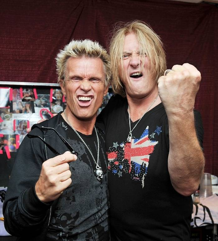 Billy Idol and Joe Elliot. Photos: Knight Bilham Photography