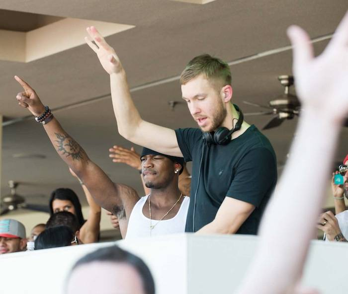 Ne-Yo and Calvin Harris at Wet Republic. Photos: Brenton Ho/Powers Imagery LLC