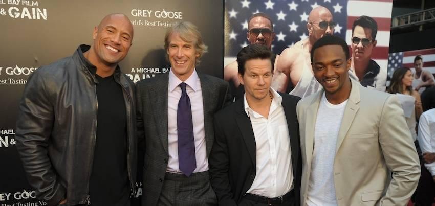 Dwayne Johnson, Michael Bay, Mark Wahlberg, & Anthony Mackie
