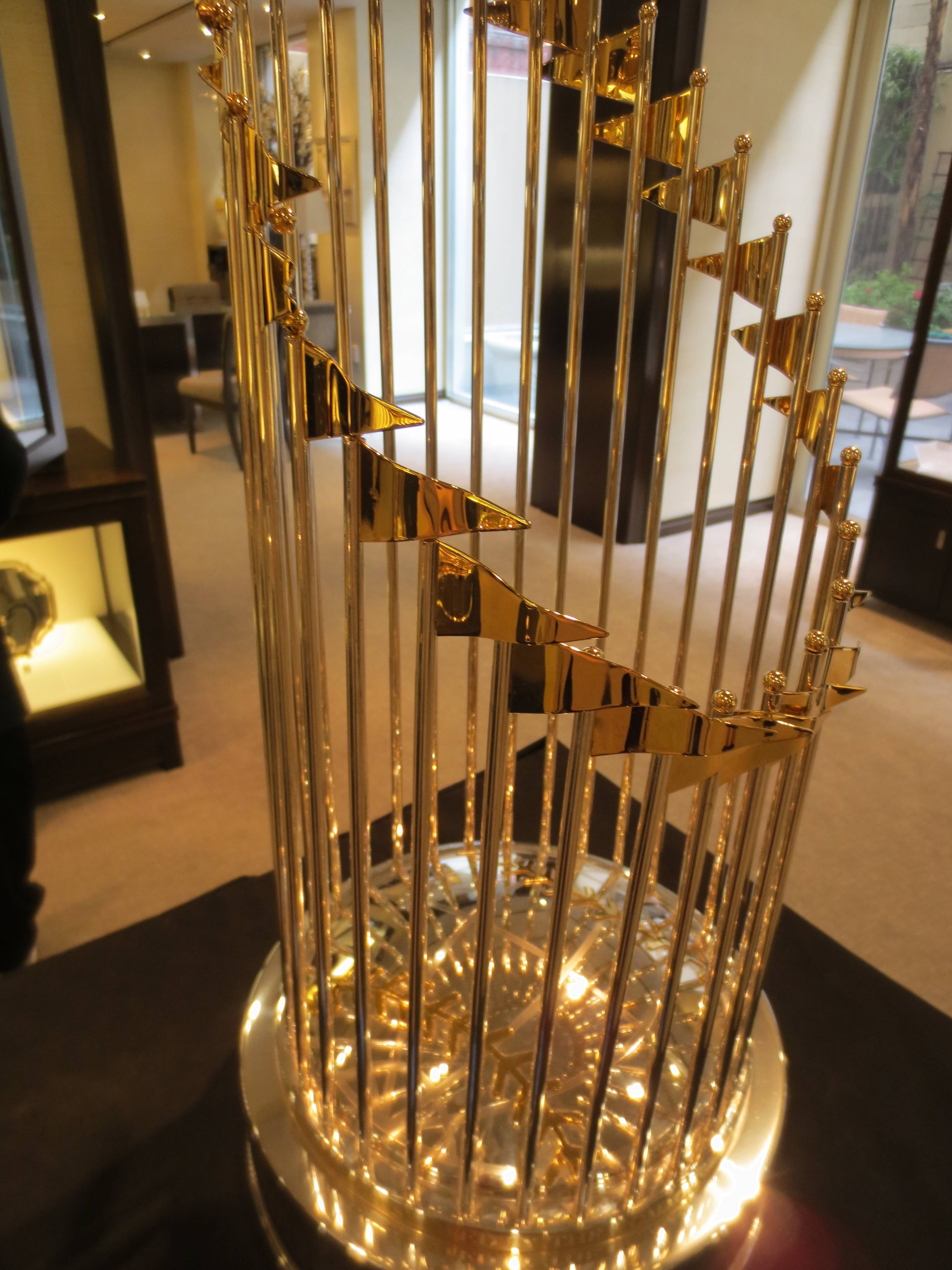 2012 San Francisco Giants World Series Trophy at Tiffany & Co.