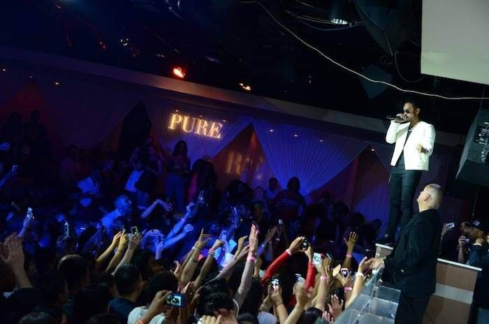 Miguel performs at Pure Nightclub. Photos: Amit Dadlaney/SpyOn Vegas