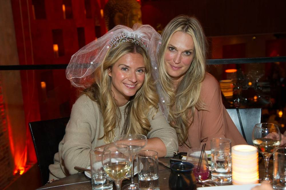 Molly Sims with friend at a bachelorette party at Tao Asian Bistro. Photos: Al Powers/Powers Imagery