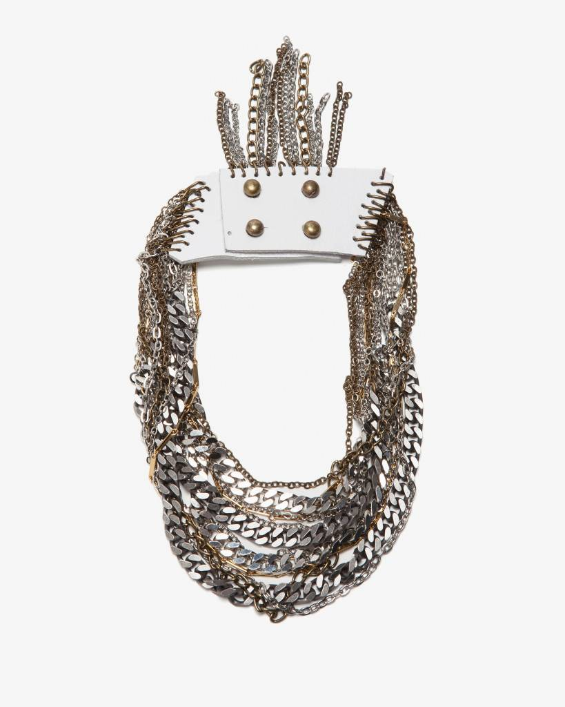 Jenny Bird, $298: Layer upon layer of mixed metal chains provide extra drama for any look day to night.