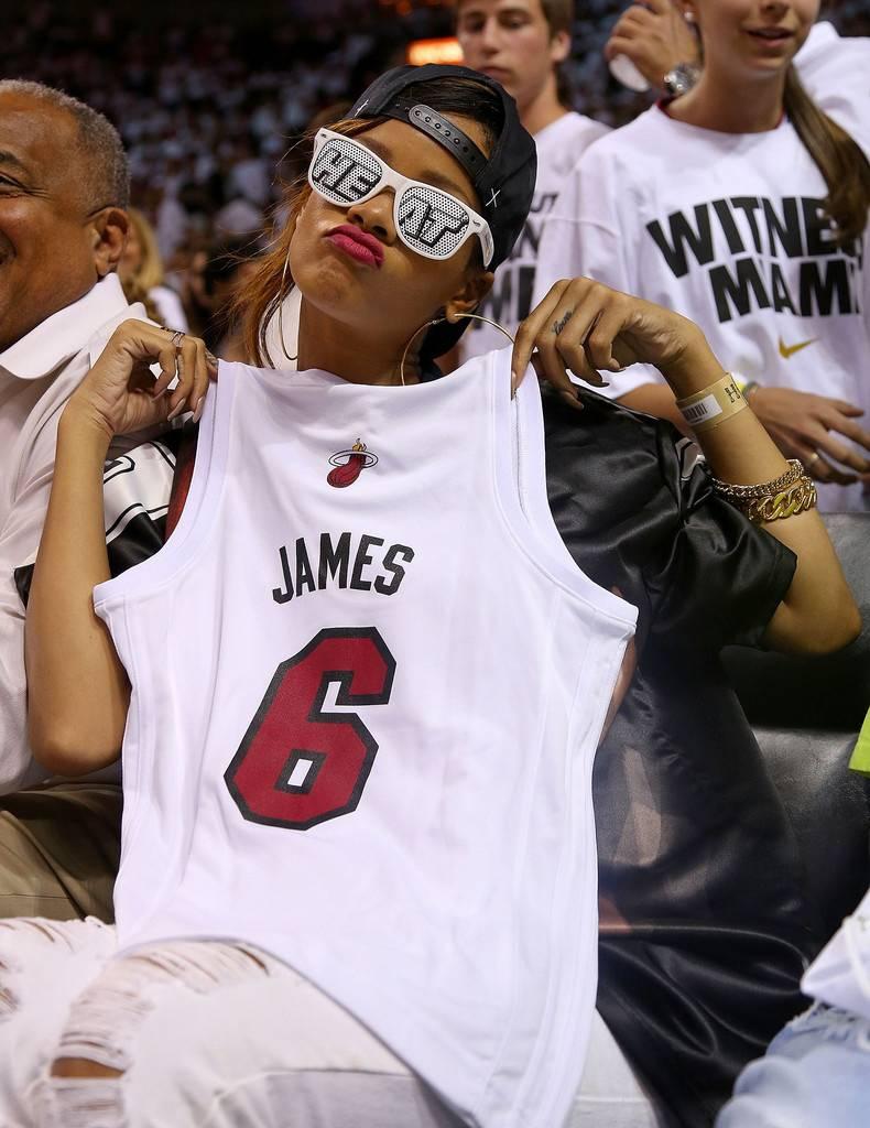 Rihanna with Heat Jersey