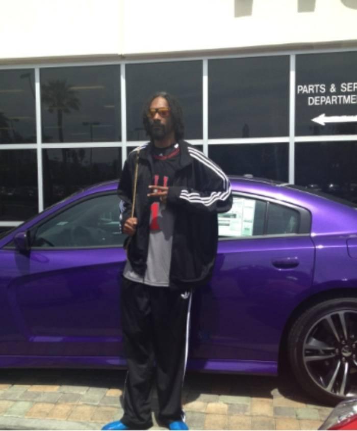 Snoop Lion at the Towbin dealership. Photos: Towbin Automotive