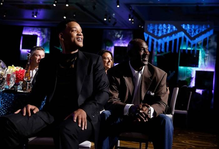 Will Smith and Michael Jordan. Photos: Isaac Brekken and Bryan Steffy/Getty Images Entertainment