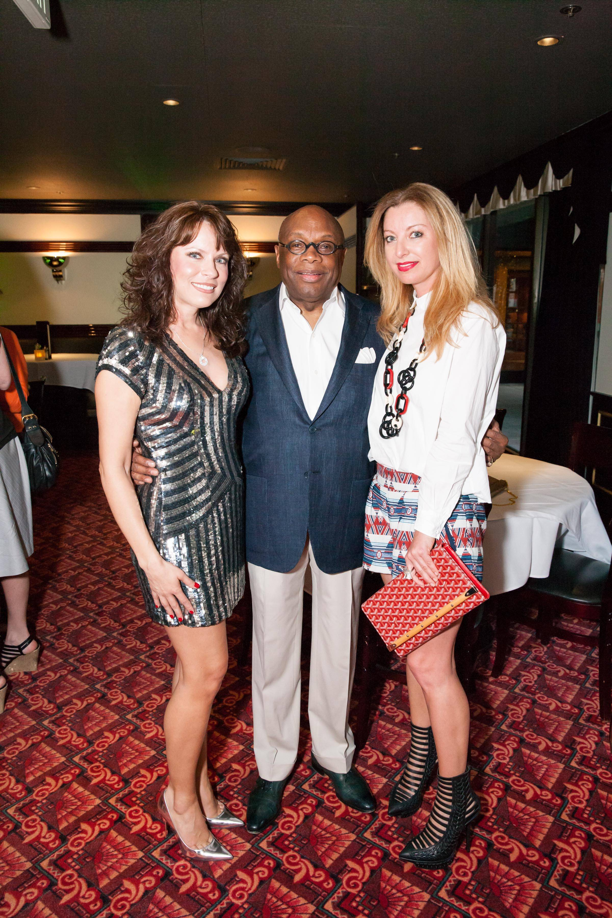 Jennifer Dal Bozzo, Willie Brown, Sonya Molodetskaya at the Osso Steakhouse Opening  Photo Credit: Drew Altizer Photography