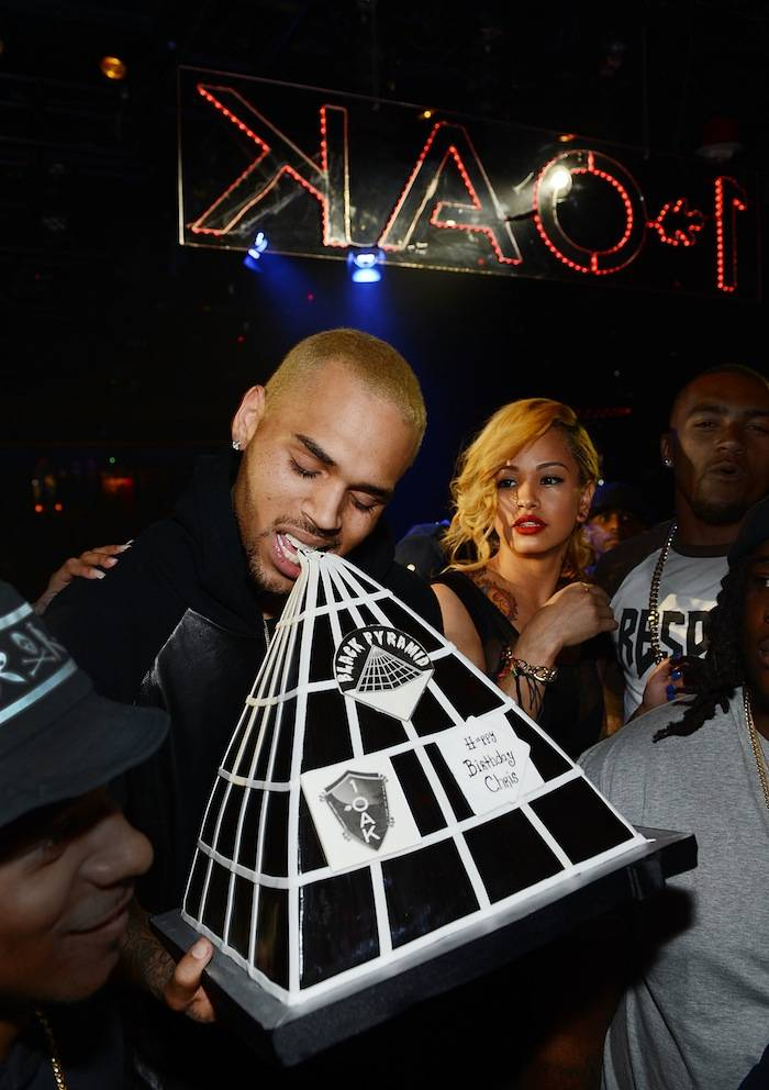 Chris Brown celebrates his 24th birthday at 1 OAK. Photos: Denise Truscello/WireImage
