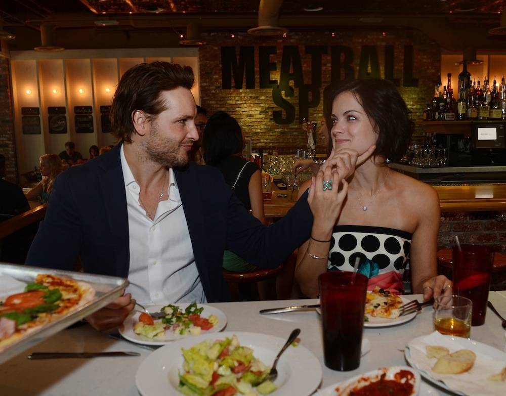 Peter Facinelli and Jaimie Alexander dine at Meatball Spot. Photos: Denise Truscello/WireImage
