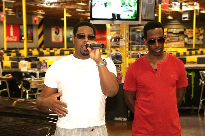 Nathan Morris and Shawn Stockman of Boyz II Men at Pole Position. Photos: Edison Graff