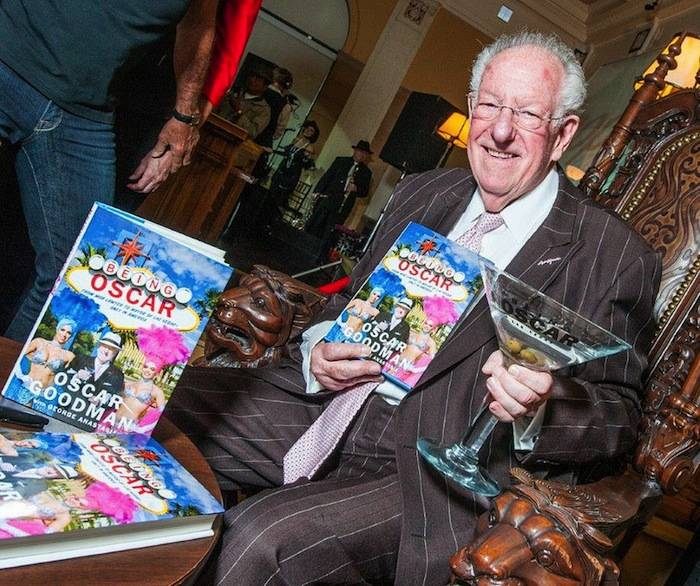 Oscar Goodman at the Mob Museum for his book launch. Photo: Tom Donoghue