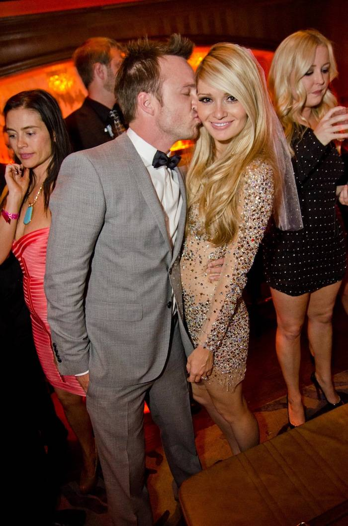 Aaron Paul and Lauren Parsekian at Marquee Nightclub. Photos: Karl Thomas/Powers Imagery