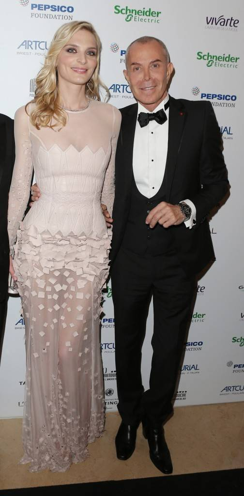 Actress Sarah_Marshall -wearing PGdM seven stars earrings and necklace with JC Jitrois wearing Timewalker