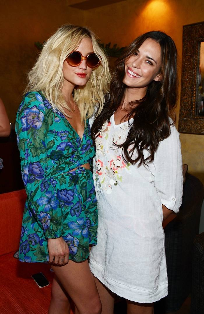 Ashlee Simpson and Odette Annable at Tao Beach Club. Photos: Denise Truscello/WireImage