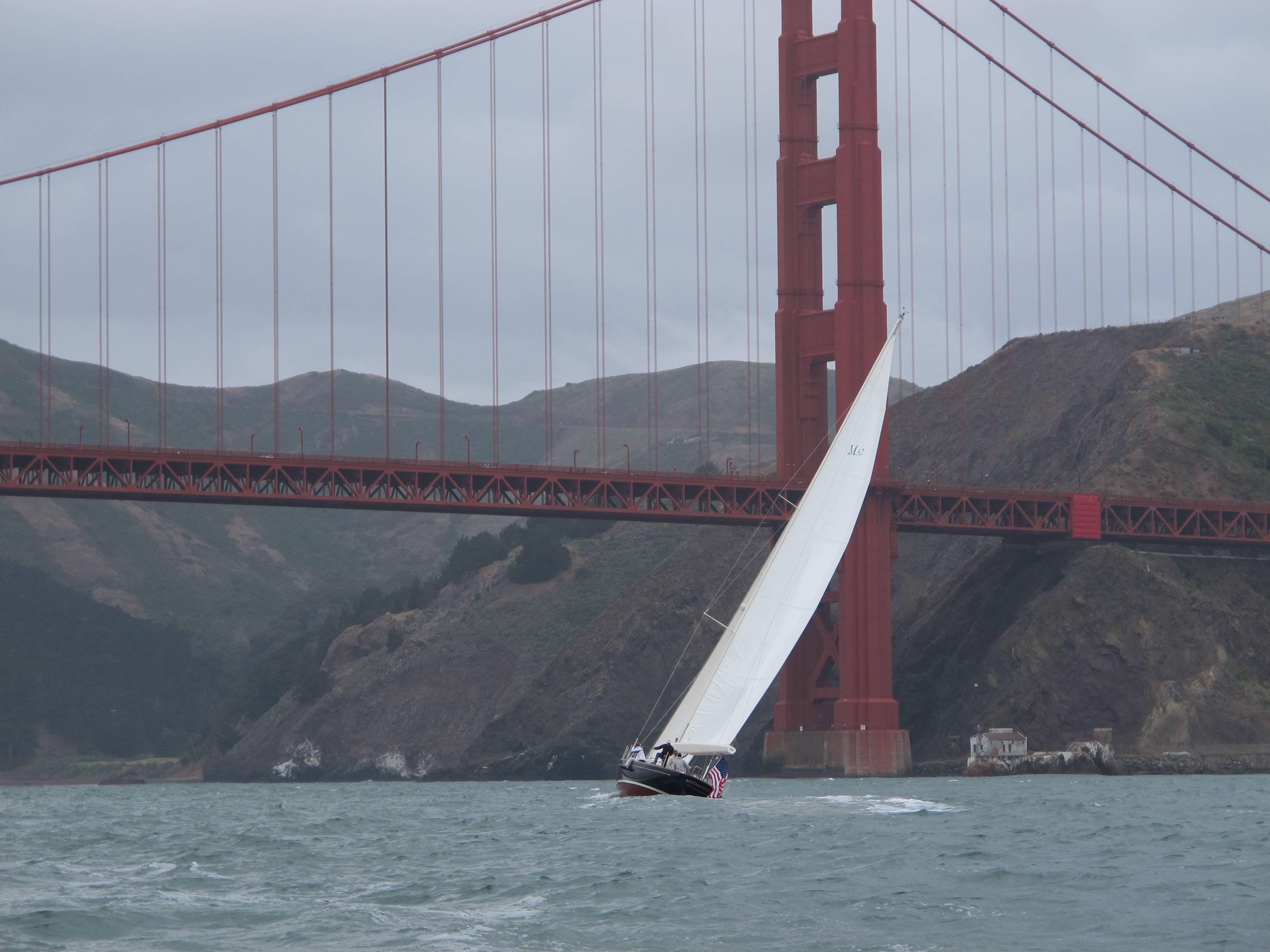 Audacity's first sail under the GG Bridge