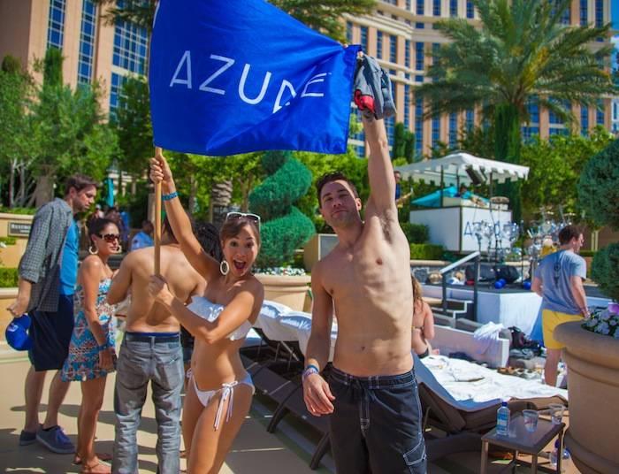 Diana DeGarmo and Ace Young celebrate at Azure. Photos: John Finn/imaze.com
