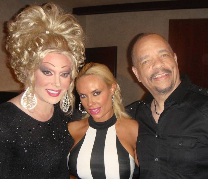 Ice-T and Coco with Frank Marino. Photo: Caesars Entertainment