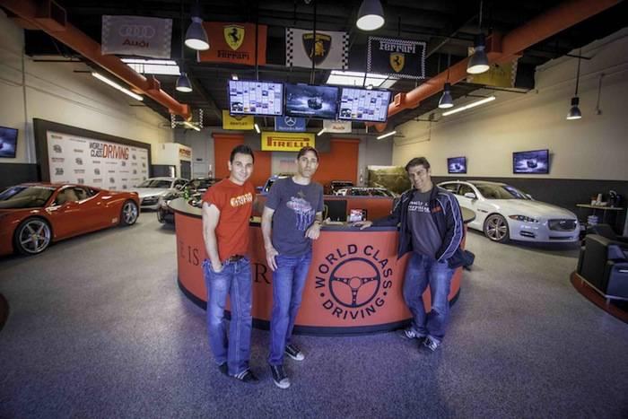 The cast of 'Jersey Boys' at World Class Driving's Dream Garage. Photos: Vik Chohan Photography
