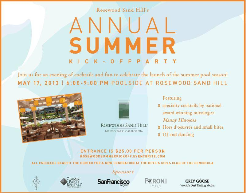 Rosewood Annual Summer Kick-Off Party Invite