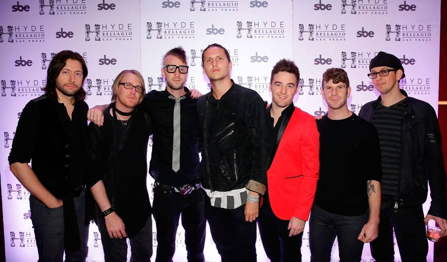 The Sayers Sessions Band on the red carpet at Hyde. Photo: Isaac Brekken/Getty