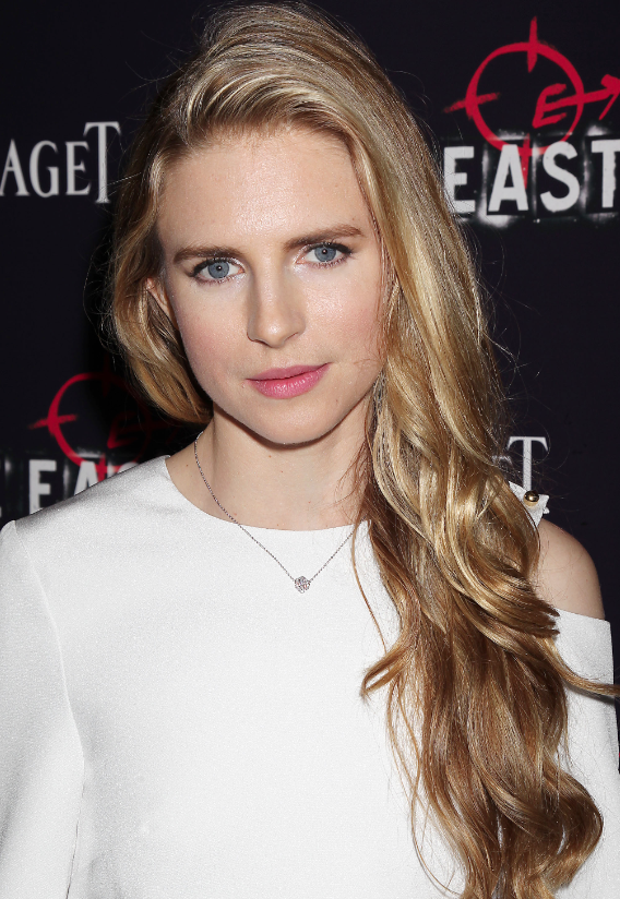 Brit Marling Sparkles In Piaget Rose Pendant At The East
