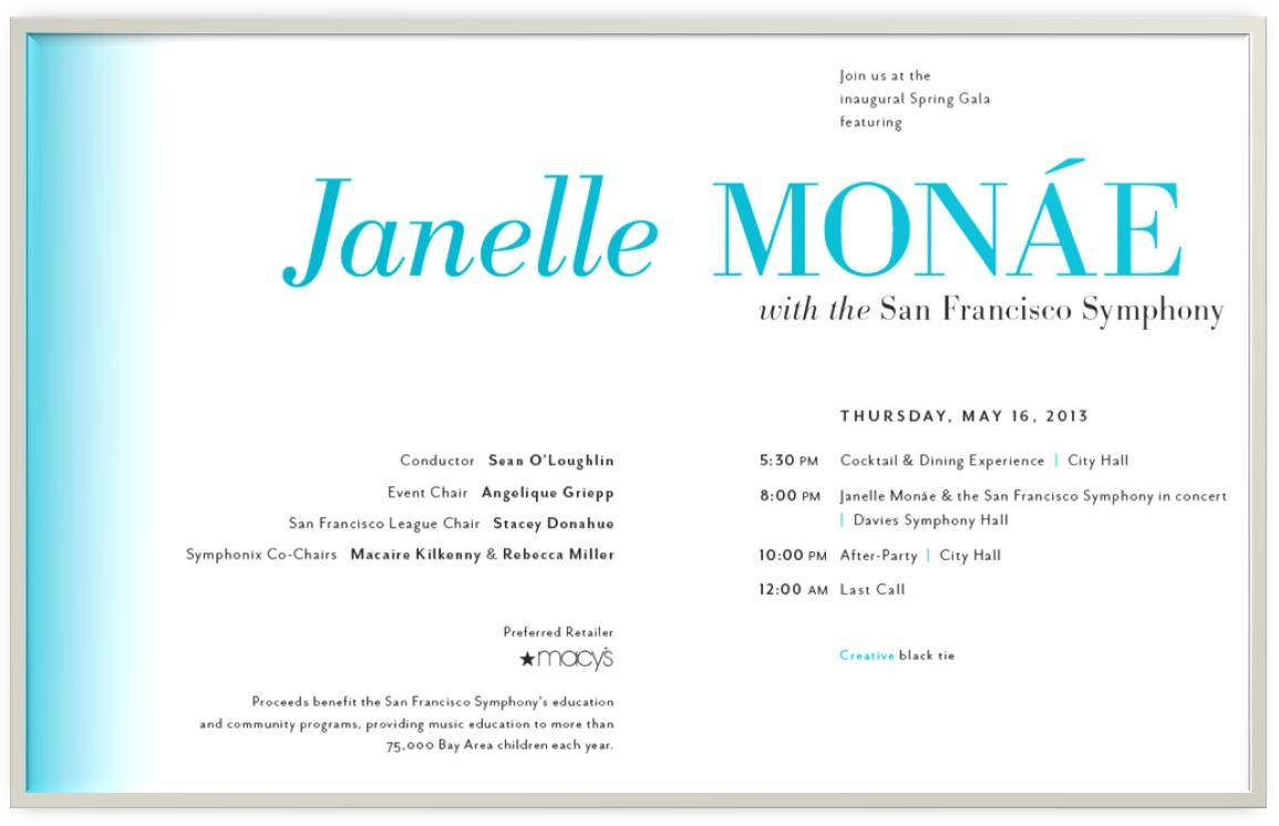 Spring Symphony Invitation