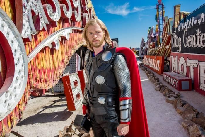 Thor in the Neon Boneyard. Photos: Erik Kabik/Retna