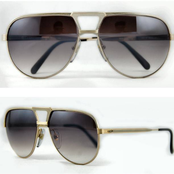 vintage dior gold rolled aviators487833_348826468559596_1581330310_n