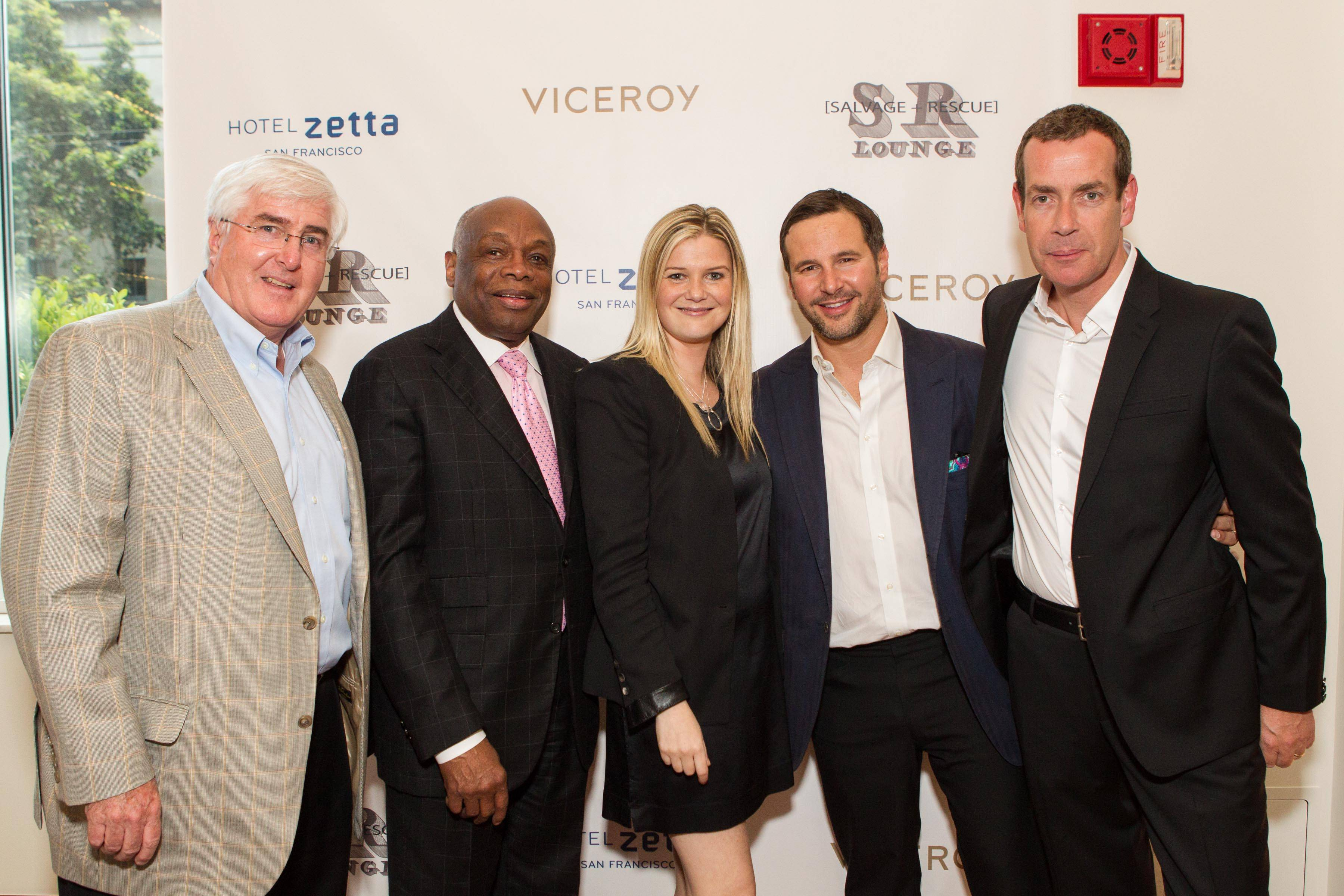Ron Conway, Willie Brown, Anna Weinberg, James Nicholas and Bill Walshe.  Credit: Drew Altizer Photography