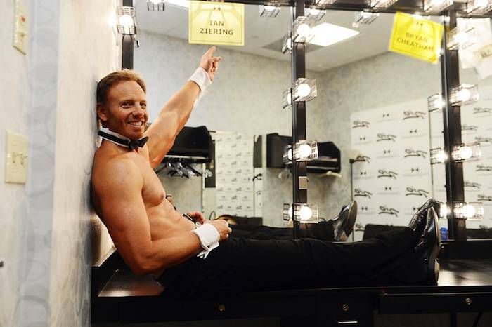 Ian Ziering makes his debut in Chippendales. Photos: Denise Truscello/WireImage