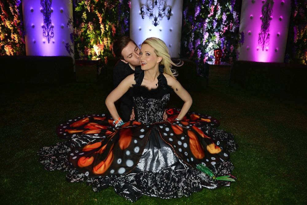 Pasquale Rotella and Holly Madison shortly after he proposed at the Electric Daisy Carnival. Photos: Denise Truscello/WireImage