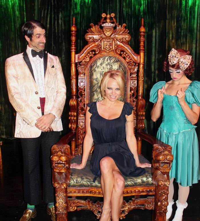 The Gazillionaire, Pamela Anderson and Penny Pibbets. Photos: Spiegelworld