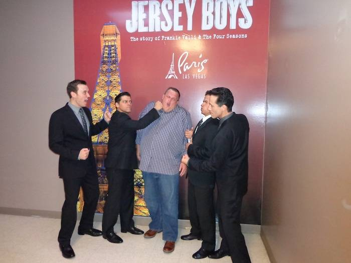 Rob Marnell, Deven May, Billy Gardell, Graham Fenton and Jeff Leibow. Photo: Courtesy of Jersey Boys