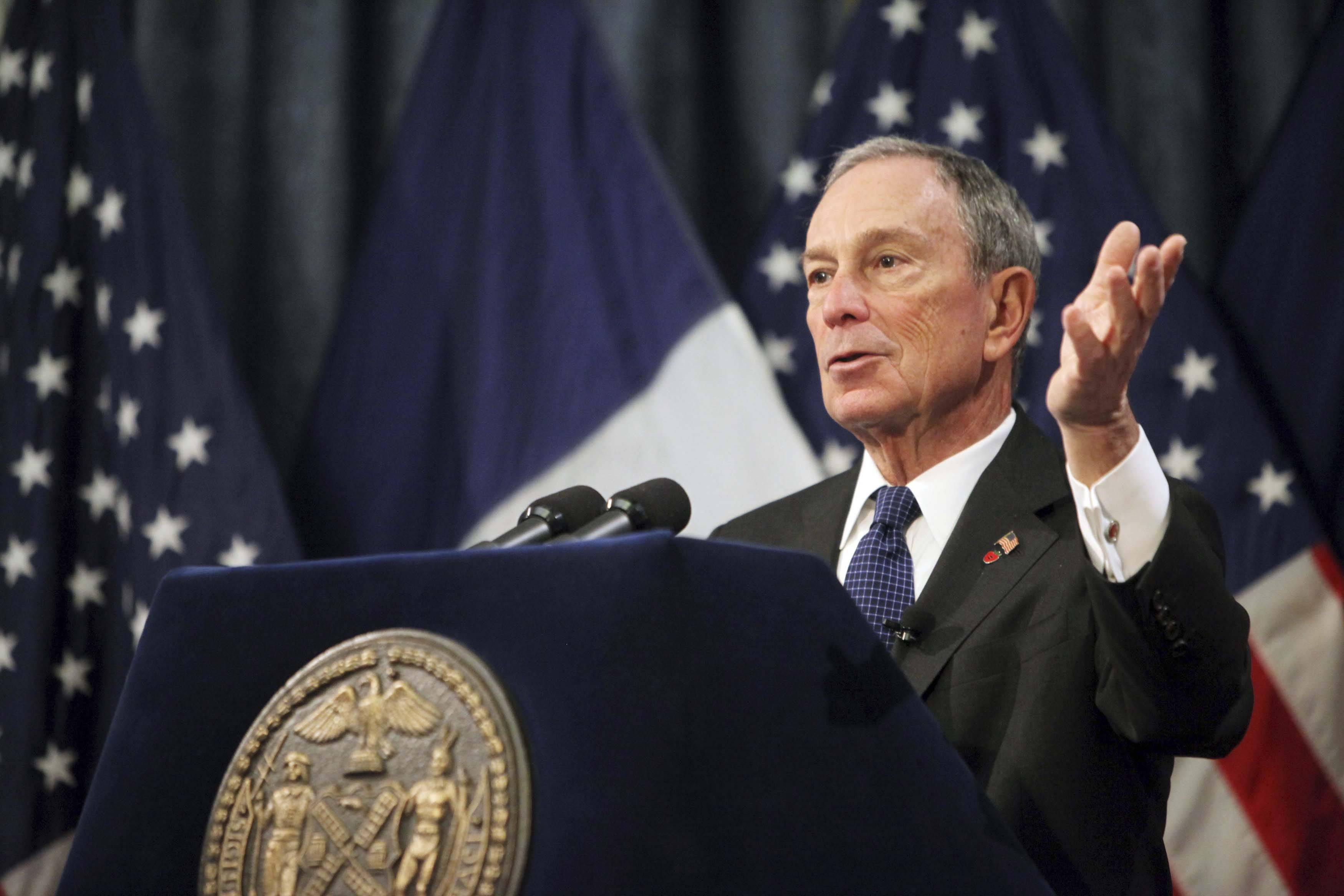 New York mayor Michael Bloomberg unveils budget in New York