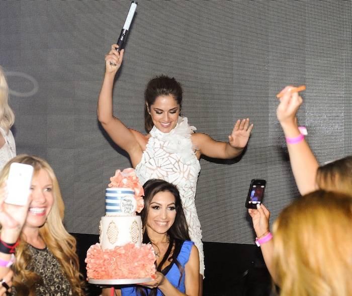Cheryl Cole celebrates her 30th birthday at Hakkasan. Photos: Brenton Ho/Powers Imagery LLC