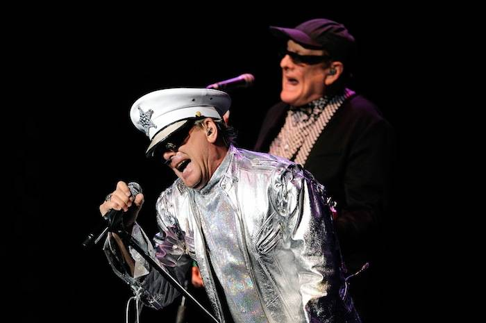 Singer Robin Zander, left, and guitarist Rick Nielsen of Cheap Trick perform at The Pearl. Photos: David Becker/WireImage