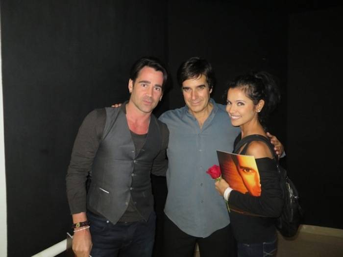 Colin Farrell and his sister Claudia with David Copperfield. Photos: David Copperfield