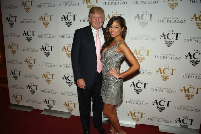 Donald Trump and Olivia Culpo on the red carpet at The Act Nightclub. Photos: Bobby Jameidar