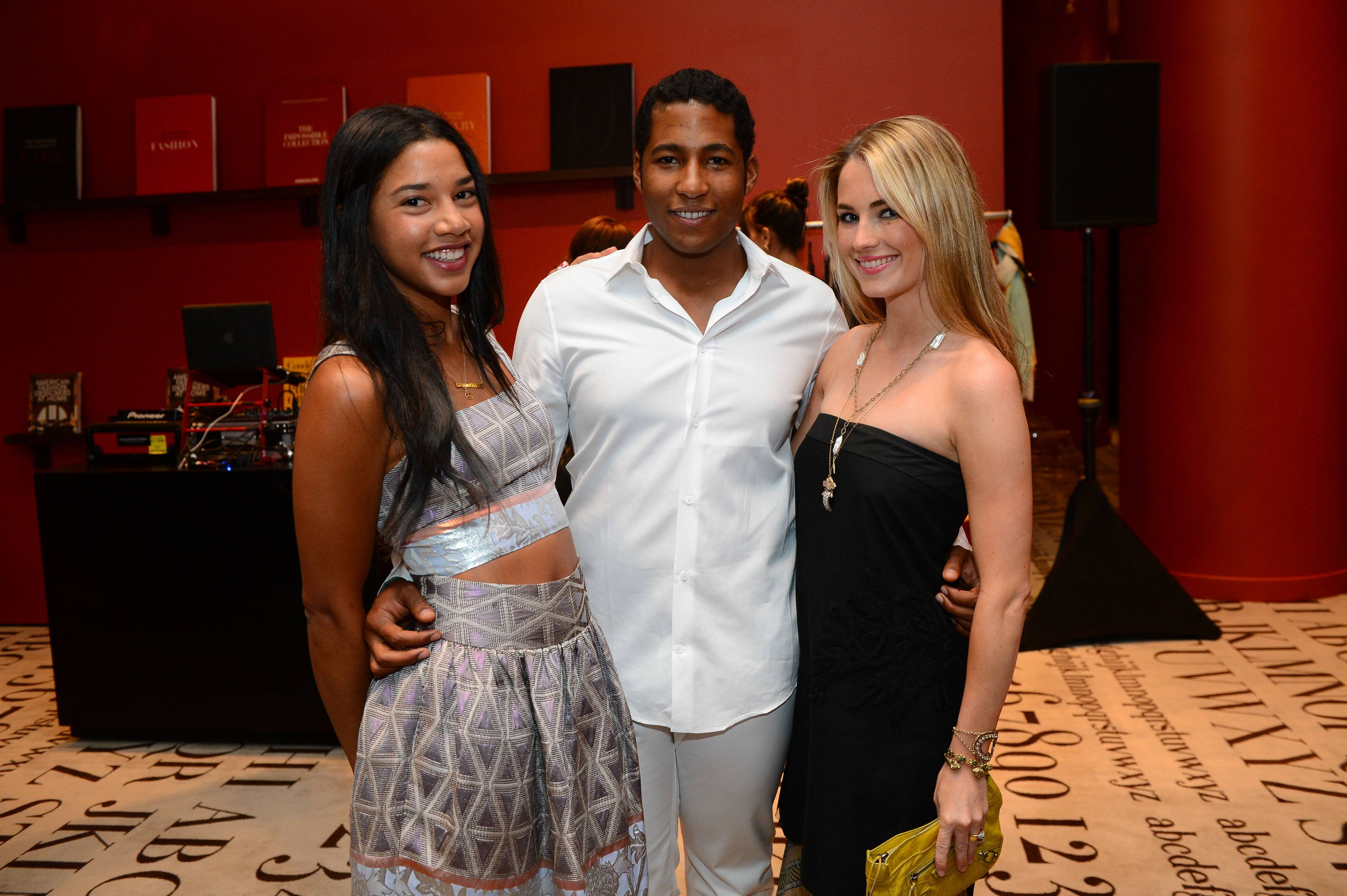 Hannah Bronfman, Hassan Pierre and Amanda Hearst at the opening of Maison de Mode.