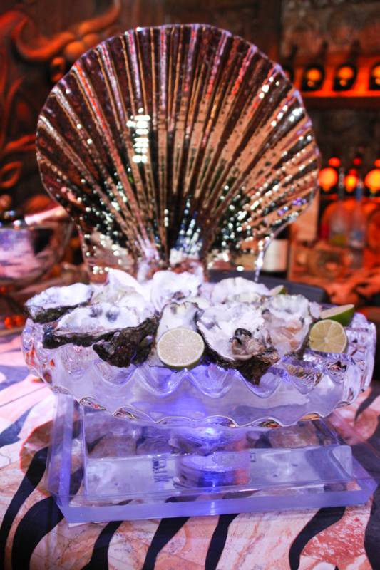 Oyster ice sculpture