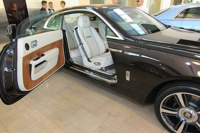 Rolls-Royce Wraith Motor inside the Towbin Motorcars showroom. Photos: Jeff Ragazzo