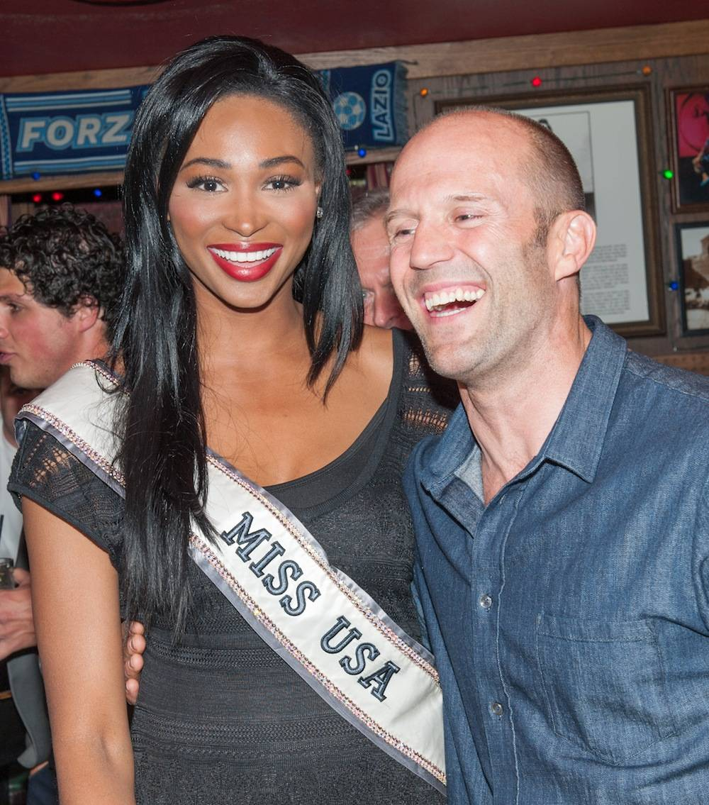Miss USA 2012 Nana Meriwether and Jason Statham. Photos: Tom Donoghue