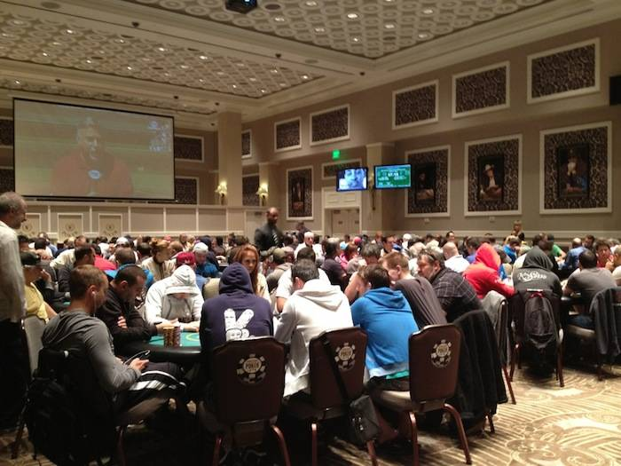 he 2013 Mega Stack Series Main Event at Caesars Palace poker room on Friday. Photo: Caesars Entertainment