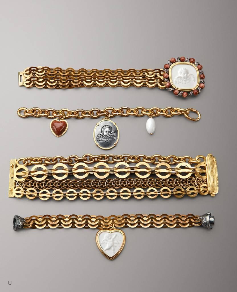 Bottega Veneta_Porcelain gold bracelet - AED 12300