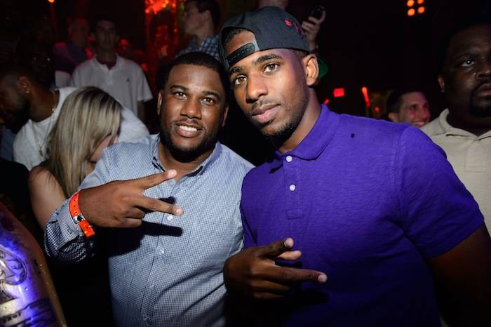 Chris Paul with his brother CJ at Tao. Photos: Al Powers/Powers Imagery