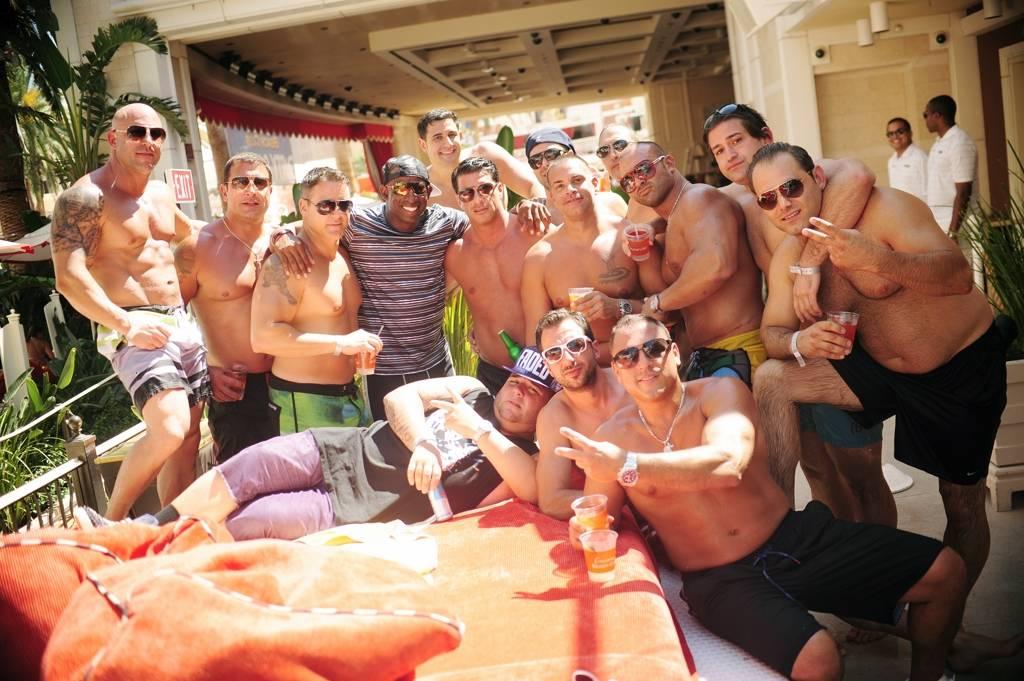 Deion Sanders at Encore Beach Club. Photo: Aaron Garcia