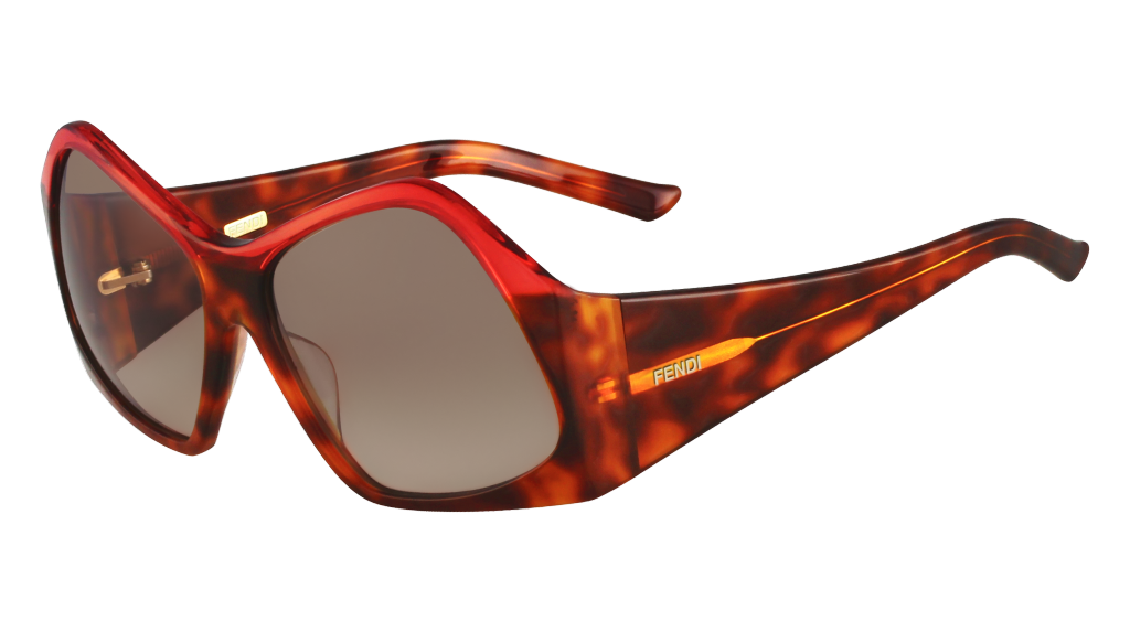 Fendi geometric sunglasses in red_AED 2,290