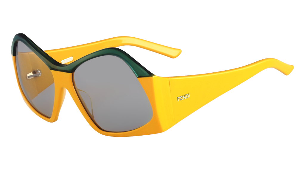 Fendi geometric sunglasses in yellow_AED 2,290