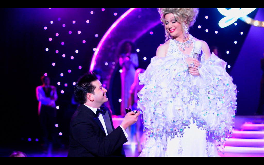Alex Schechter proposes to Frank Marino during Diva Las Vegas.