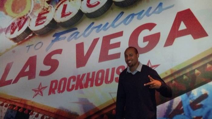 Hank Baskett poses at Rockhouse.